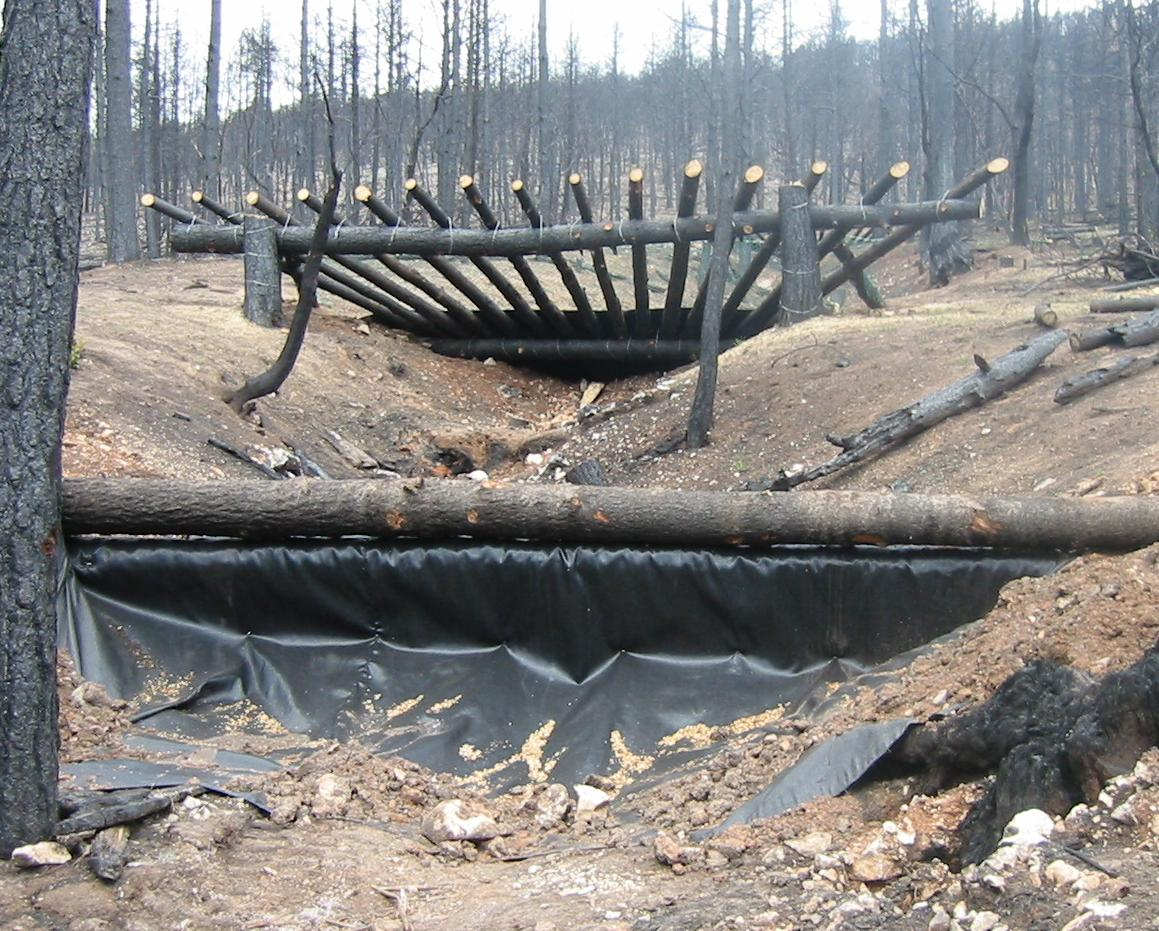 debris rack post fire