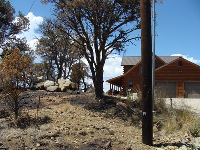 Home with Defensible Space, Little Bear Fire.