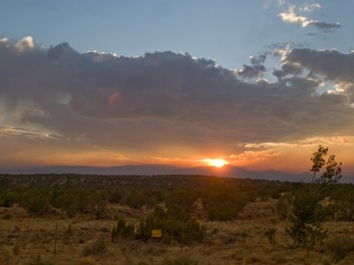 New Mexico Wildfire at Sunset