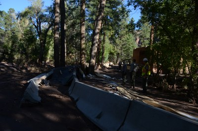 Aftermath Flooding in Frijoles Canyon