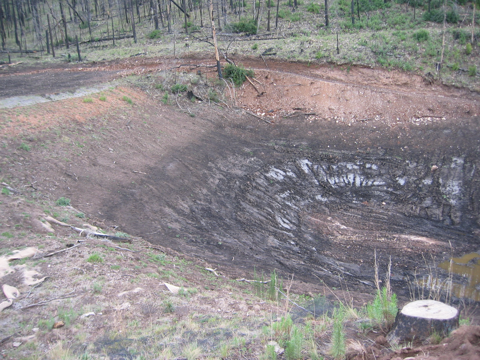 catchment basin cleanout post fire