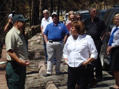 Governor Martinez after Little Bear Fire