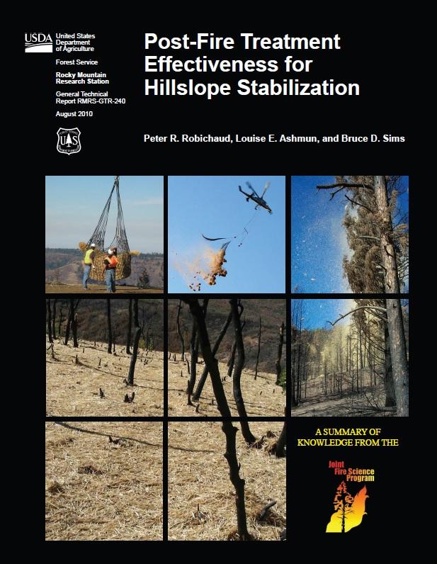 Post Fire Treatment Effectiveness Hillslope Robichaud etal 2010
