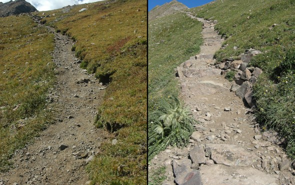 trail stabilization post fire